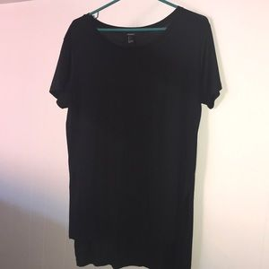 Forever 21 Black Tunic Length T-shirt
